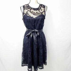 CB Lace Yoke Sweetheart Cocktail Dress